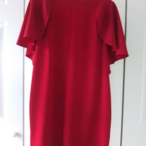 Used. red Calvin Klein dress, size 12